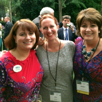 JAX Chamber Leadership Trip City Council President's Reception at The Duke Mansion, pictured here from L - R: Tina Wirth, JAX Chamber Senior Director Workforce Development, Jen Jones Executive Director Unity Plaza & Janet Owen Vice President Governmental Affairs UNF.