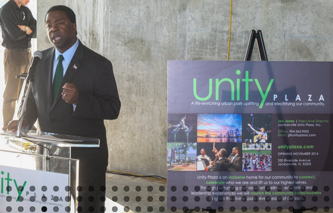 March 30, 2014: Mayor Alvin Brown speaks regarding Unity Plaza as a Catalyst for Change & Innovation in Jacksonville