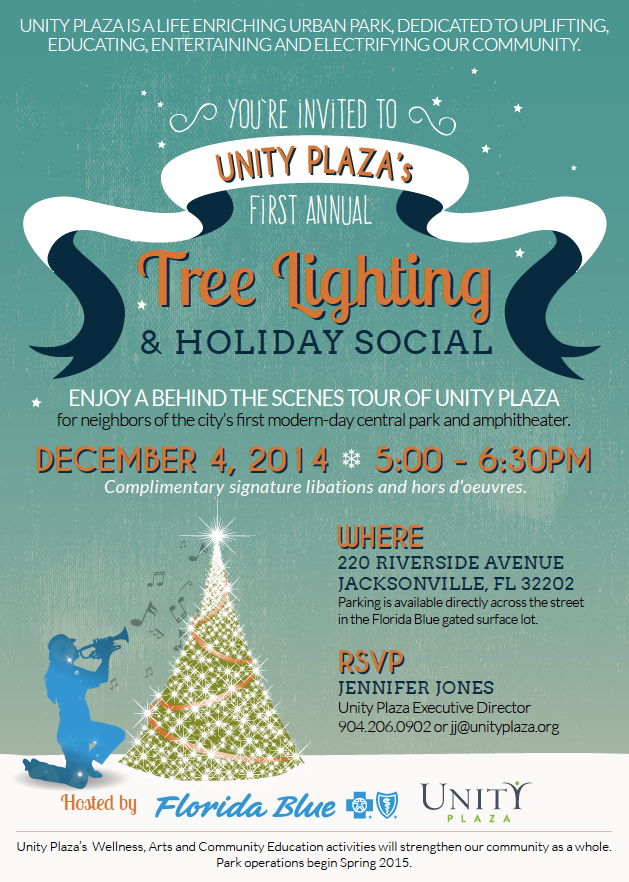 DEC 4 - Holiday Party at Unity Plaza for Neighborhood Stewards