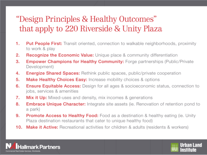 Healthy Principles Applicable to UP and 220 Riverside