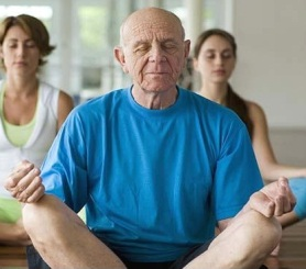 senior meditation