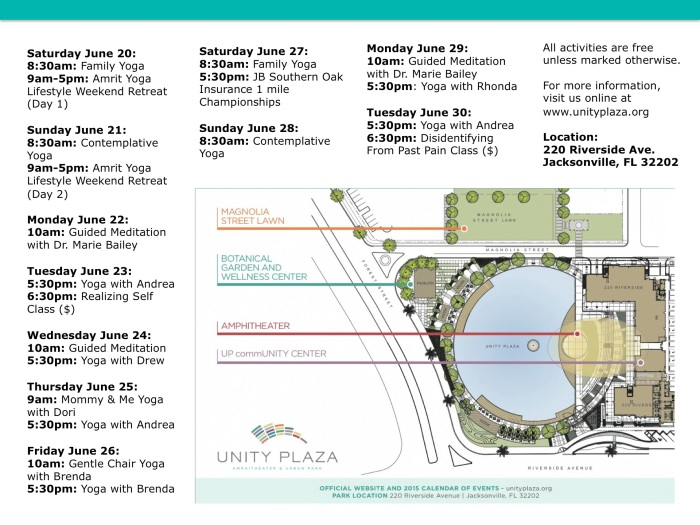 Unity Plaza - June Schedule PDF