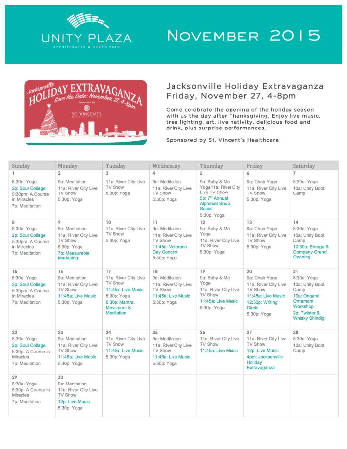 UP November Calendar